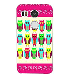 PrintDhaba Owl D-4369 Back Case Cover for LG NEXUS 5X (Multi-Coloured)