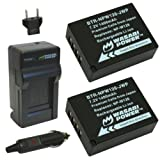 Wasabi Power Battery (2-Pack) and Charger for Fujifilm NP-W126 and Fuji FinePix HS30EXR, HS33EXR, HS35EXR, HS50EXR, X-A1, X-E1, X-E2, X-M1, X-Pro1, X-T1