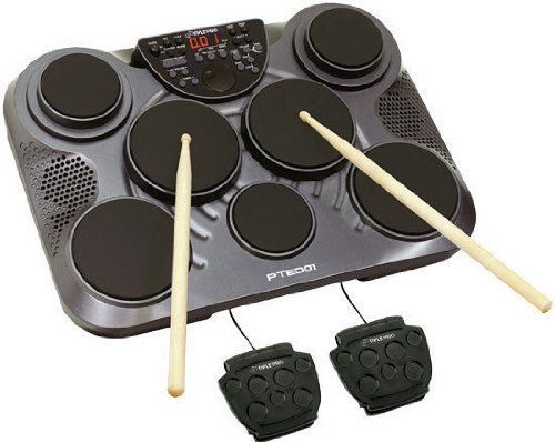 New Pyle Pro Electronic Table Home Digital Drum Kit Top W7 Pads Set Led-Rbpted01