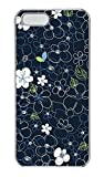 iPhone 5S Case - Summer Printed Cool Black Line Flowers Hard PC Transparent 5 Case