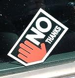FUN Autohändler Sticker - Kärtchenhändler - NIX KARTE - Aufkleber Seitenscheibe