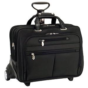 McKleinUSA OHARE 76535 Black Nylon Fly-Through Checkpoint-Friendly 17  Detachable Wheeled Laptop Case