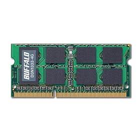 BUFFALO �m�[�gPC�p���݃����� PC3-10600(DDR3-1333) 4GB D3N1333-4G/E