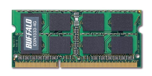 BUFFALO ノートPC用増設メモリ PC3-10600(DDR3-1333) 4GB D3N1333-4G/E
