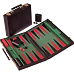 Backgammon Executive Style Black Viny...