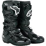 Alpinestars Youth Tech 6S Boots - 4 US Youth/Black/Black (Color: Black, Tamaño: 4)