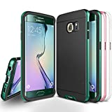 Galaxy S6 Edge Case, Obliq [Shock Resistant] Samsung Galaxy S6 Edge Cases [Dual Poly Bumper] - [3 Interchangeable **METALLIC** Bumper Frames Included - Green Emerald, Pink, and White]Ultra Slim Fit Dual Layer Protection Cover with Minimalistic Design - B