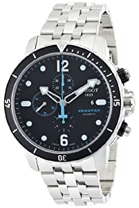 Tissot Men's T0664271105700 Seastar 1000 Black Chronograph Dial Watch