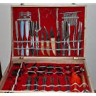 Culinary Carving Tool Set 80 Pieces in Luxury Wood Case for Fruit/ Vegetable Garnishing / Cutting / Slicing