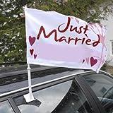 """Autoflagge """"Hochzeit"""""""
