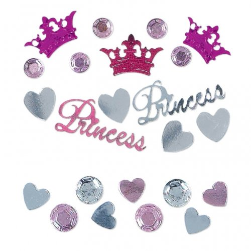 Amscan Pretty Princess Confetti Mixes, 1.2 oz.