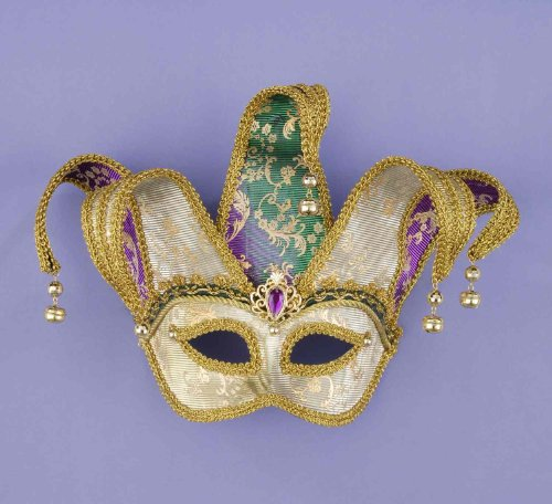 Color Changing Mardi Gras Jester Mask Jester Costume Mask Mardi Gras Mask 62697