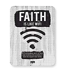 PosterGuy Faith Is Like Wi-Fi Wi-Fi, Faith, Spirituality, Connect Mouse Pad