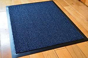 Small blue black speckled door mat rubber for Door mats amazon