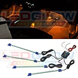 4pc. Orange LED Interior Underdash Lighting Kit thumbnail