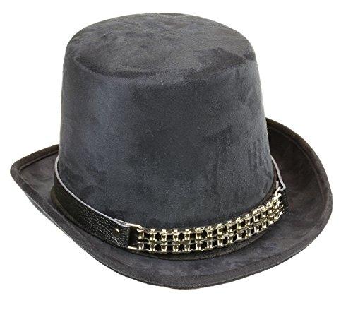 Coachman-Hat-Bike-Cain-Leather-Band-Suede-Steampunk-Slash-Top-Hat