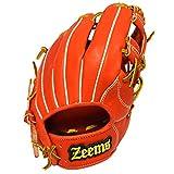 Zeems(ジームス) 三方親 内野手用 小 右投げ用 グラブ グローブ 一般 軟式用 Sオレンジ/ブラック