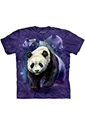 The Mountain Panda Collage Adult T-shirt