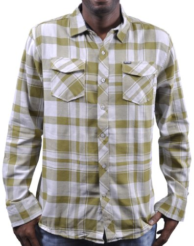 Zoo York Plaid Button Down Smoke Fatigue Green - Medium