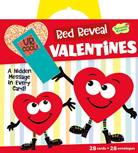 Peaceable Kingdom / Red Reveal Happy Riddle Super Valentine Card Pack