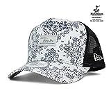 オンスポッツ別注 ニューエラ メッシュ キャップ フロント パッチ ハードマンズ リネン ホワイト 帽子 ONSPOTZ ORIGINAL NEWERA D-FRAME MESH FRONT PATCH HERDMANS LINEN WHITE