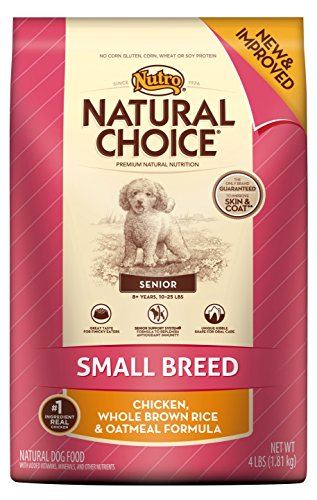 Natural Choice Small Breed Senior Chicken Whole Brown Rice & Oatmeal Formula, 4-Pound