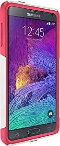 OtterBox Samsung Galaxy Note 4 Case Commuter Series- Frustration-Free Packaging - Neon Rose (Whisper White/Blaze Pink)