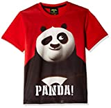 Kung Fu Panda Boys' T-Shirt (KFPTEE005_Red_2 - 3 Years)