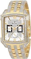 Bulova Men's 98C109 Crystal Striking Visual Design Watch