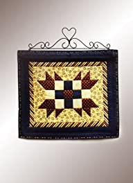 J&J Wire Heart/Curly Quilt Holder, Small