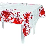 "Halloween Zombie Apocalypse Party Blood Spattered Table Cover-54"" x 108"""