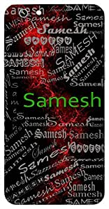 Samesh (Lord Of Equality) Name & Sign Printed All over customize & Personalized!! Protective back cover for your Smart Phone : Samsung Galaxy E-7