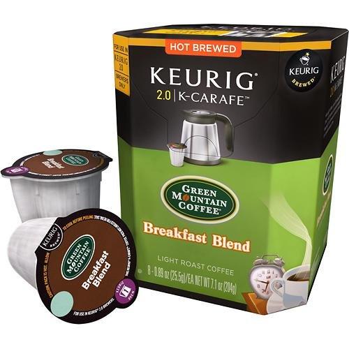 Keurig 2.0 Green Mountain Coffee Breakfast Blend K-Carafe Packs (8) front-613683