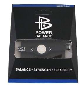 Power Balance - Bracelet Noir - Taille M (19cm) - Vendu Dans Sa Boite
