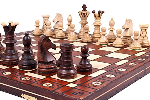 The Jarilo - Unique Wood Chess Set, Pieces, Chessboard & Storage 0