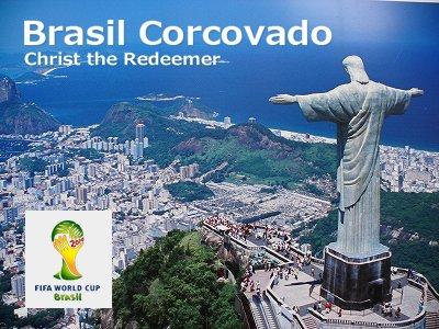 キリスト像(コルコバード像) 8インチ / 2014ワールドカップ開催国ブラジル・リオデジャネイロの象徴