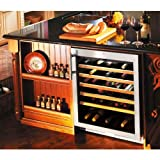 Liebherr Wu-5600 56 Bottle Single Zone Built-in Wine Cooler - Glass Door / Stainless Steel Trim