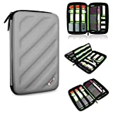 BUBM Portable EVA Hard Drive Case Travel Organizer for Electronics (1 Gray Large)