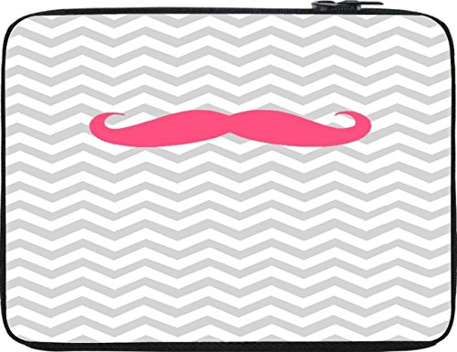 Snoogg Wave Mustache 12 To 12.6 Inch Laptop Netbook Notebook Slipcase Sleeve