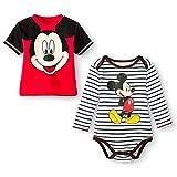Disney Newborn Boys' Mickey Mouse Bodysuit and Tee Set