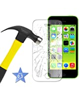 Apple iPhone 5C - Tempered Glass LCD Screen Protector Guard & Polishing Cloth ( Tempered Glass Protector )