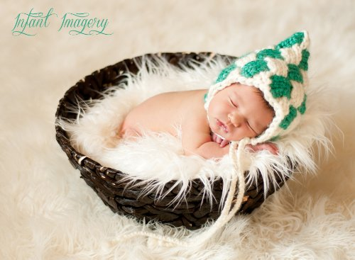 Gnome Entrelac Pixie Bonnet Knitting Pattern - All Sizes Newborn Through 1-3 Years Included front-1056925