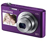 "Samsung DV150F 16.2MP Smart WiFi  Digital Camera with 5x Optical Zoom and 2.7"" front and 1.5"" rear Dual LCD Screens (Plum)"