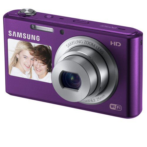 51Ea3lsRDVL Samsung DV150F 16.2MP Smart WiFi  Digital Camera with 5x Optical Zoom and 2.7 front and 1.5 rear Dual LCD Screens (Plum)