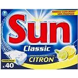 Sun Produits - Lave Vaisselle Tablette Mono - Classic Citron - 40 Tabs