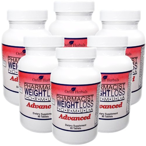 Pharmacist Weight Loss Formula Advanced Diet Pill Non Stimulant Appetite Suppressant for Maximum Weight Loss Caffeine Free Super Citrimax Hoodia All Natural 6 Bottles 540 Tablets 6 Month Supply