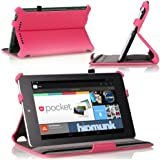 MoKo Slim-Fit Multi-angle Folio Cover Case for Google Nexus 7 Android Tablet by ASUS, MAGENTA (with Smart Cover Auto Wake/Sleep Feature)