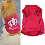 HP95(TM) Fashion Pet Dog Cat Cute Princess T-shirt Clothes Vest Summer Coat Puggy Costumes (M)