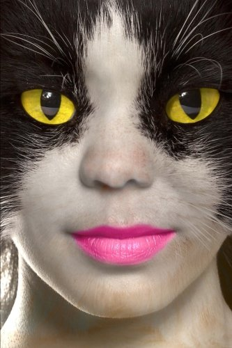 Transformation: A Cat Woman With Pink Lipstick Fantasy Journal