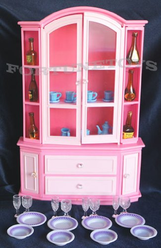 Gloria Buffet & Hutch Set Barbie Sized Playset